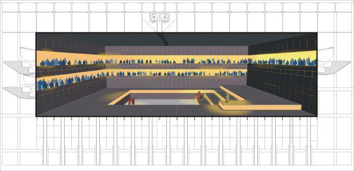 Entwurf Querschnitt Zentrum für Zeitgenössische Oper und Musik
